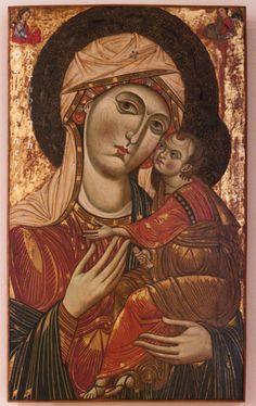 Madonna dei Mantellini, Master of Saints Cosmas and Damian, c.1250-75