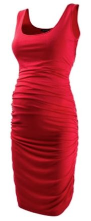 Red Ruched Maternity Date Dress...I'm not pregnant...but this is so pretty!