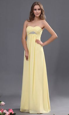 long yellow bridesmaid dresses IN THE COLOR YOU WANT