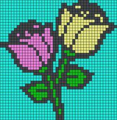 Roses Alpha Friendship Bracelet Pattern #19715 - BraceletBook.com