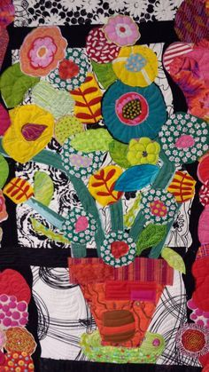Collage quilt by Freddy Moran, posted by Judy Irish | Wild Irish Rows Quilting.