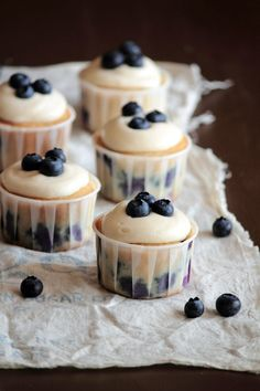 Blueberry Cream Cheese Cupcakes - Cupcake Daily Blog - Best Cupcake Recipes .. one happy bite at a time!