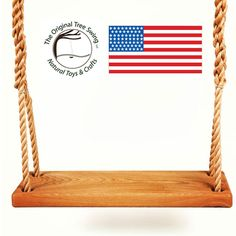 THE ORIGINAL TREE SWING BENCH - WOOD - 20 FT ROPE - MADE IN USA #TheOriginalTreeSwing