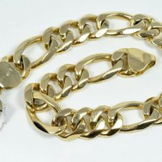 Sophisticated Men S New Cuban Figaro 14k Gold Bracelet