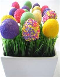 Easter Egg Cake Pops. What a cool idea!