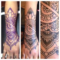 Hand forearm mandal half finished