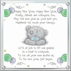 Happy new year Happy New Year Greetings, Merry Christmas And Happy New Year, Christmas Greetings, Christmas Cards, Happy New Year Animation, Teddy Bear Quotes, Teddy Bear Pictures, Blue Nose Friends, Tatty Teddy
