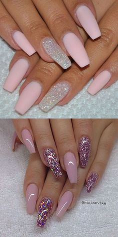 2016 Nail Trends 101 Pink Nail Art Ideas Source by Gorgeous Nails, Pretty Nails, Acrylic Nail Designs, Nail Art Designs, Nails Design, Acrylic Nail Art, Pink Nail Art, Pink Art, Pink Glitter Nails