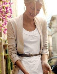 blanco con chaqueta cruda