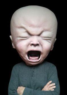 Big Baby Head Halloween Mask. So horrible and i like it.