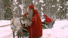 Santa Claus Reindeer Ride - Lapland Finland - Father Christmas - Rovaniemi #Santa #Santa_Claus