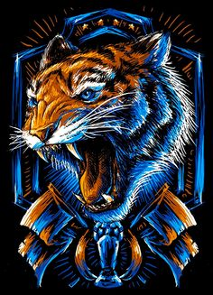 Illustration done for Tigres tints on black tee Tiger Wallpaper, Drawing Wallpaper, Tiger Design, Design Art, Vector Design, Fire Lion, Tiger Artwork, Tiger Illustration, Mobile Legend Wallpaper