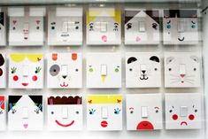 Henrietta is a London based designer who is responsible for these ridiculously cute light switch stickers. Her 'Light Up Your Mood'