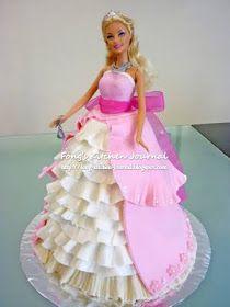 Fong's Kitchen Journal: Princess Barbie Doll Cake