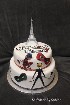 SelfMadeby Sabine: Miraculous Ladybug Cat Noir Cake Torte