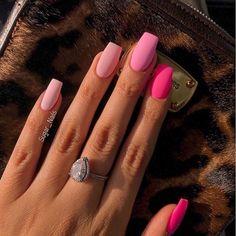 Nail Art Design 40 Stylish Fun Design - Page 2 of 2 - Inspired Beauty . - Nail Art Design 40 Stylish Fun Design – Page 2 of 2 – Inspired Beauty – Nail Art Design 21 St - Square Acrylic Nails, Pink Acrylic Nails, Acrylic Nail Designs, Nail Art Designs, Nails Design, Pink Nail Art, Square Nail Designs, Acrylic Nails With Design, Bright Summer Acrylic Nails