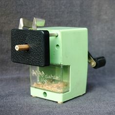 Retro pencil sharpener by MademoiselleChipotte on Etsy, $25.95