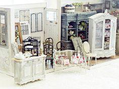 Miniatuur-making: natuurlijke kleur van het leven ~ handgemaakte meubels