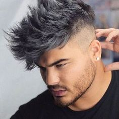 2017 quiff hairstyles for men - Contemporary Messy Hairstyles for Guys, 50 Men S Messy Hairstyles Masculine Haircut Inspiration to Get Special Messy Hairstyles for Guys Grey Hair Color Men, Grey Hair Dye, Dark Grey Hair, Long Gray Hair, Hot Hair Colors, Cool Hair Color, Men Hair Color Highlights, Mens Messy Hairstyles, Short Haircuts