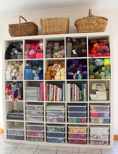 I used to have a craft room. My very own craft room. Yarn Storage, Craft Room Storage, Craft Rooms, Sewing Spaces, Sewing Rooms, Knitting Room, Yarn Organization, Craft Room Design, Small Space Storage