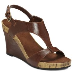 b8175c88d7 A2 by Aerosoles Women's 'Plush Above' Brown Cork Wedge Sandals Stylish  Sandals, Shoes