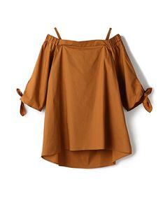 ESTNATION オフショルダーブラウス|シャツ/ブラウス|ESTNATION(エストネーション)公式通販 Korea Fashion, Japan Fashion, Daily Fashion, Korea Dress, Natural Clothing, Blouse Models, Casual Outfits, Fashion Outfits, Online Fashion Stores