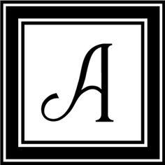 Silhouette Online Store - View Design #1568: Monogram A