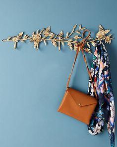 These Decorative Wall Hooks Look More Like Wall Art – Coat Hanger Design Diy Wall Hooks, Coat Hooks On Wall, Decorative Wall Hooks, Diy Wall Decor, Wall Hanger, Old Shutters, Repurposed Shutters, Entry Way Design, Coat Hanger