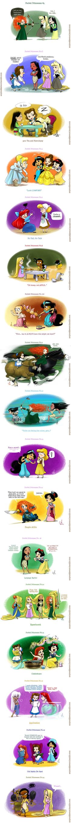 Funny Disney Pocket Princesses Comics http://geektyrant.com/news/2012/6/3/funny-disney-pocket-princesses-comics.html: