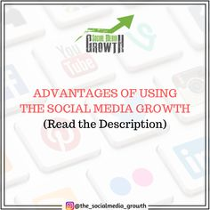 ADVANTAGES OF USING THE SOCIAL MEDIA GROWTH ✅  📌 Our team will help you improve your development strategy to drive traffic to your site. 📌 Our main goal is to provide quality services all over the world. At cheap SMM panel PayPal is also available. 📌 We provide our users with reliable and efficient social media networks. 📌 The Success and total satisfaction of our customers are priorities on our best SMM panel cheap. Priorities, Social Media Marketing, Improve Yourself, Goal, Success, Website, Amazing