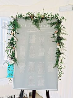 Grey, powder blue timeless table plan with vine floral decor dropped over - Image by Christian and Erica Film Photography - Dominique Sassi Holford Gown and Jimmy Choo Shoes for a classic wedding at Iscoyd Park with Grey Ted Baker Bridesmaid Dresses, Groomsmen in Navy Reiss Suits and pastel florals.