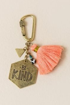 Be Kind Tassel Keychain - small purse online, discount designer handbags, money purse *sponsored https://www.pinterest.com/purses_handbags/ https://www.pinterest.com/explore/handbag/ https://www.pinterest.com/purses_handbags/black-purse/ http://www.vincecamuto.com/handbags/
