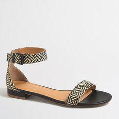 J.Crew+Factory+-+Factory+raffia+ankle+strap+sandals