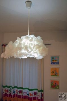 18. #Cloud Lampshade - 33 Ikea Hacks #Anyone Can do ... → DIY #Hacks
