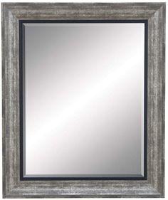 """Bayden Hill Pu Beveled Mirror 35""""H,29""""W"""