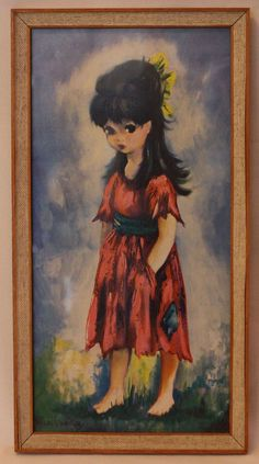 Cute and Kitsch Audrey Dallas Simpson Print by HoityToityVintage