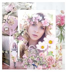 """Flowers everywhere..."" by katelyn999 ❤ liked on Polyvore featuring art"
