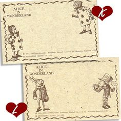 THE MACMILLAN ALICEメッセージカード10枚 縦9.5cm×横5.5cm