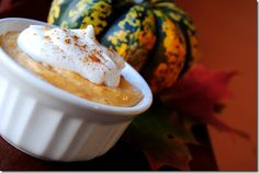 Healthy Pumpkin Pie Dessert. Yes please!