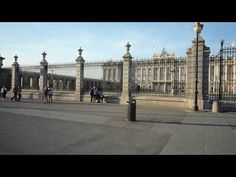 """Madrid, Palacio Real. Amazing sites and buildings in Spain. """"bonito"""" walking video tour shows a walk through spain and what it has to offer."""