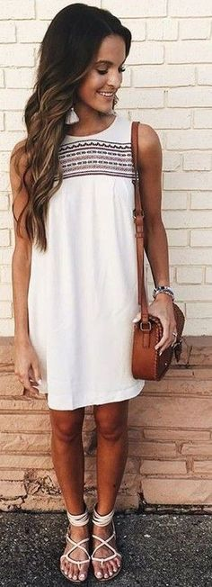White Embroidered Dress                                                                             Source