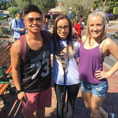 I ran into @jmocak and @madieelizabeth_  at Disneyland today!! I wish I wasn't so nervous so I could tell them how awesome they are but they were super nice and took a picture with me. I don't think I've ever been this excited. It truly made my day!!  by teesmarie19