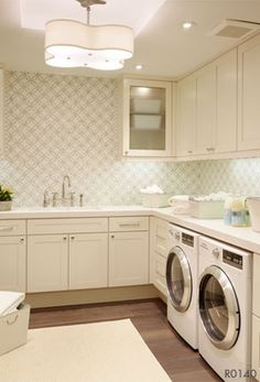 Thassos Imperial Mosaic contemporary laundry room