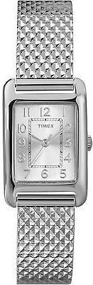 Timex Women's Dress Wrist Watch Silver-Tone Case & Dial Quartz Movement…