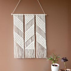 Zig Zag Macrame Wall Hanging by Lekker Project