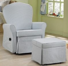 Dutailier 721130 - Camelback Reclining Swivel Glider in Ivory microsuede w/ nursing ottoman :) Extra padded option