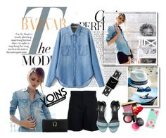 """""""Yoins Denim Shirt"""" by autumn-soul ❤ liked on Polyvore featuring Whiteley, Prepara, Chloé, Casetify and yoins"""