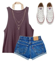 """Untitled #103"" by maddiem1d on Polyvore featuring Free People, RVCA, Jessica Simpson and Converse"