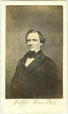 CDV President Jefferson Davis. Click on the image for more information.