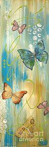 Butterfly Bliss 1 Art Print by Jean Plout